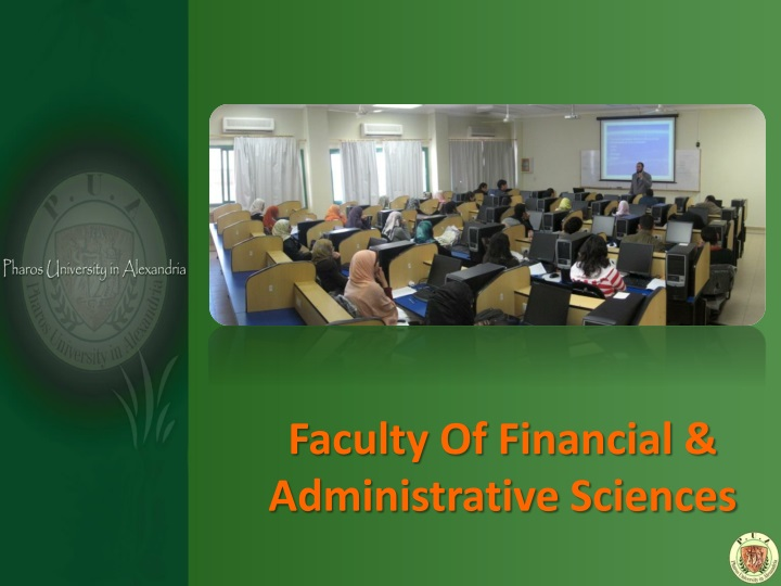 Faculty Of Financial & Administrative Sciences