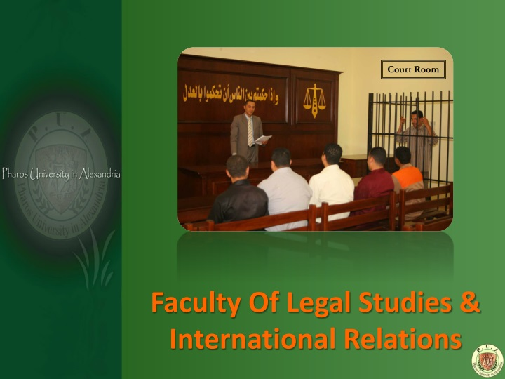 Faculty Of Legal Studies & International Relations