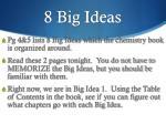 8 big ideas