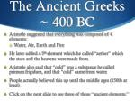 the ancient greeks 400 bc