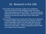 10 research in the usa