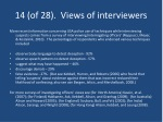 14 of 28 views of interviewers