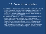 17 some of our studies