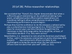 20 of 28 police researcher relationships