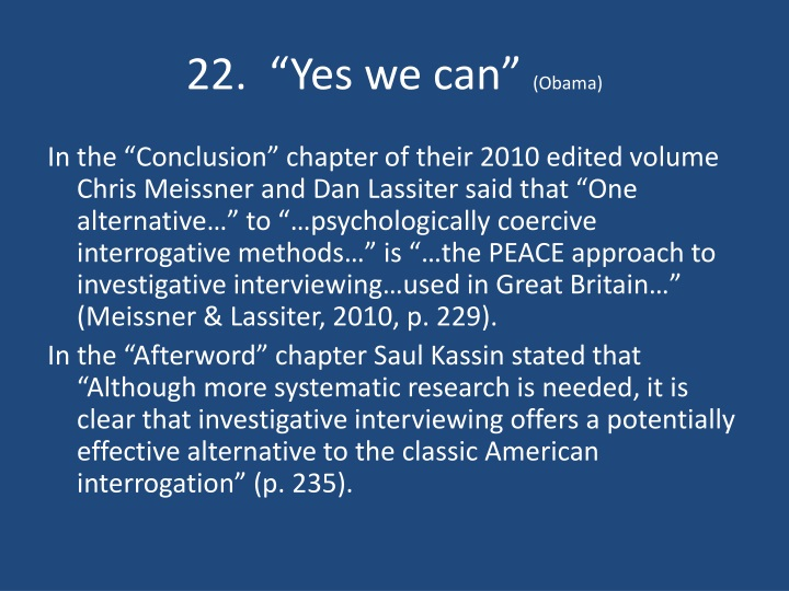 "22.  ""Yes we can"""