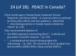 24 of 28 peace in canada