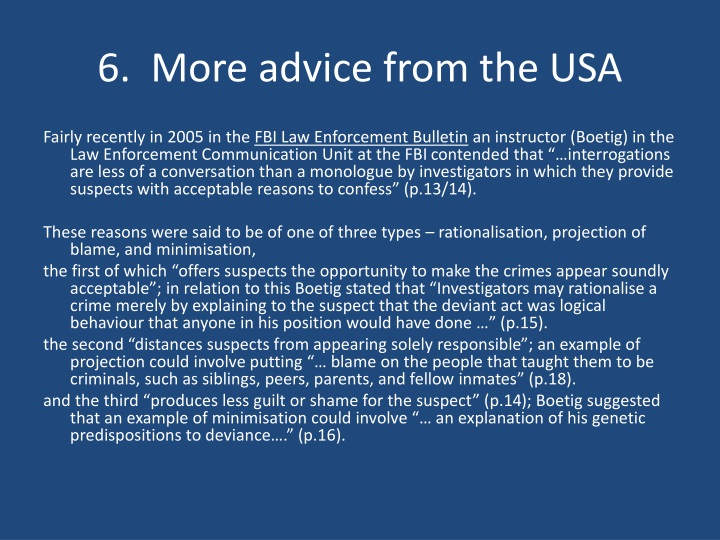 6.  More advice from the USA