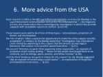 6 more advice from the usa