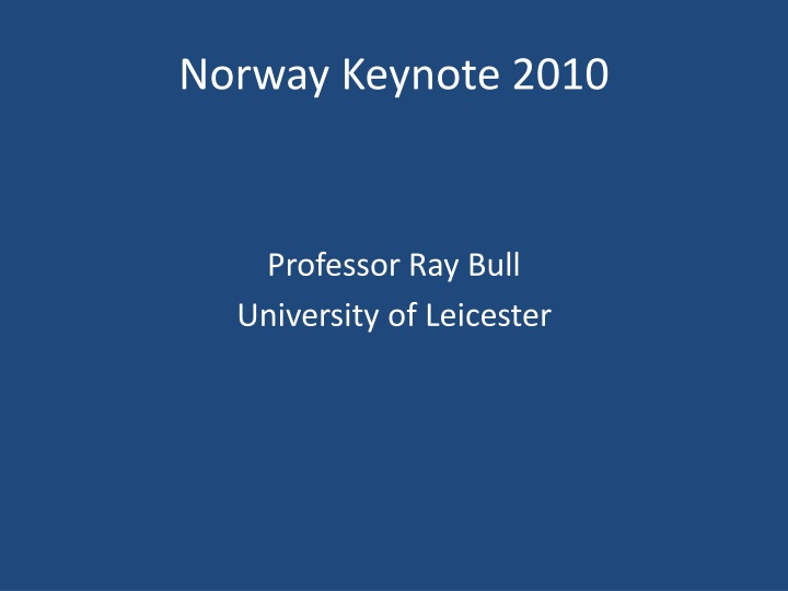 Norway Keynote 2010