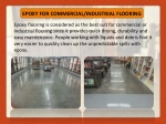 epoxy for commercial industrial flooring