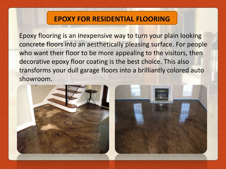 EPOXY FOR RESIDENTIAL FLOORING