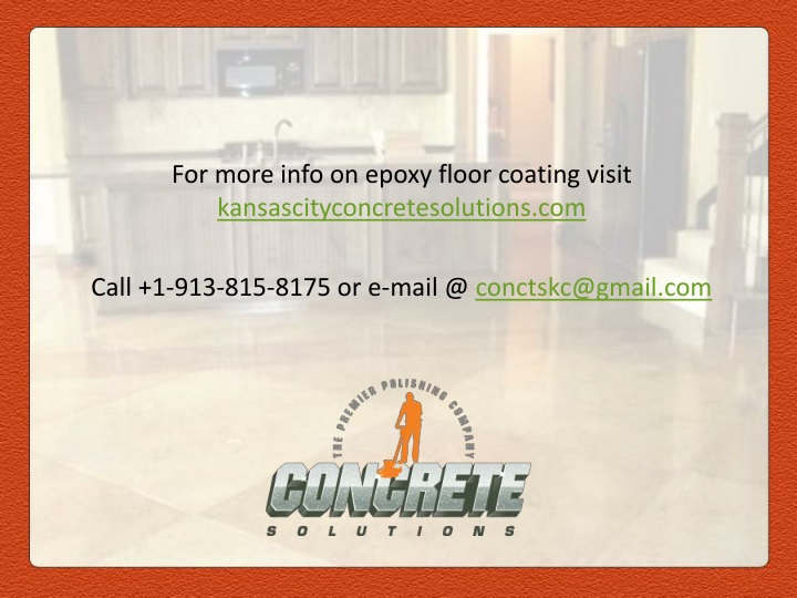 For more info on epoxy floor coating visit