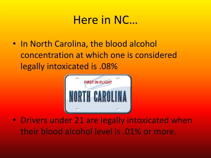 Here in NC…