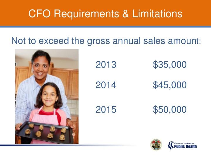 CFO Requirements & Limitations