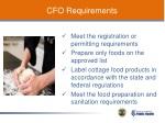 cfo requirements