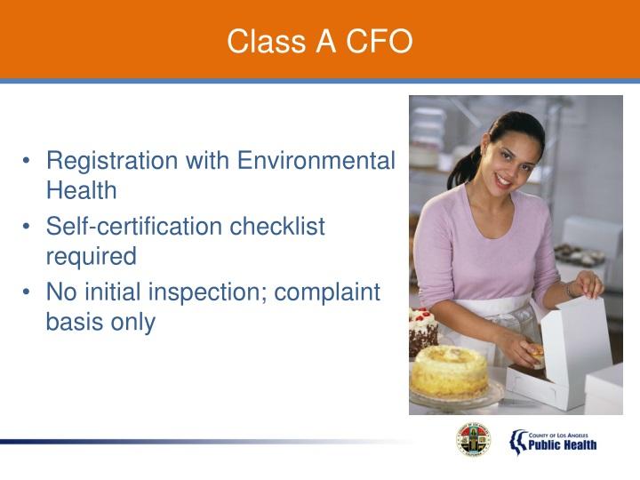 Class A CFO