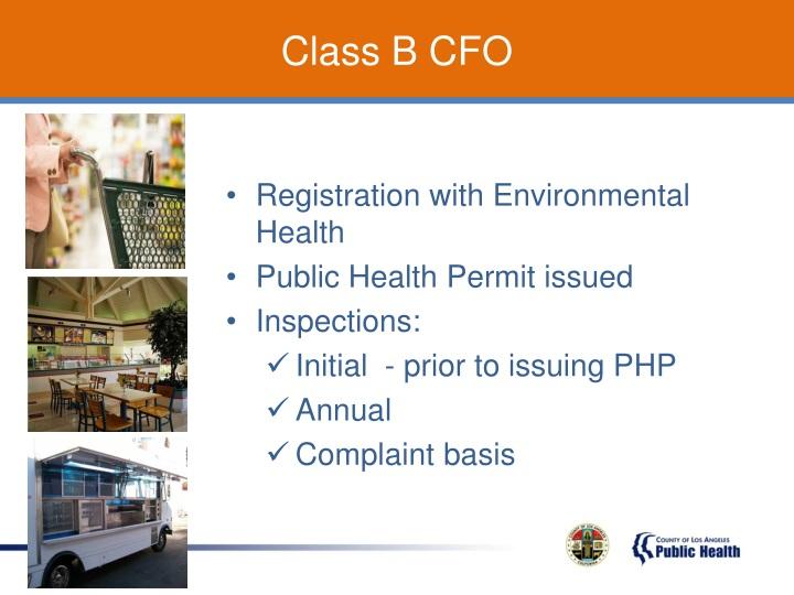 Class B CFO