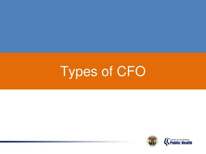Types of CFO