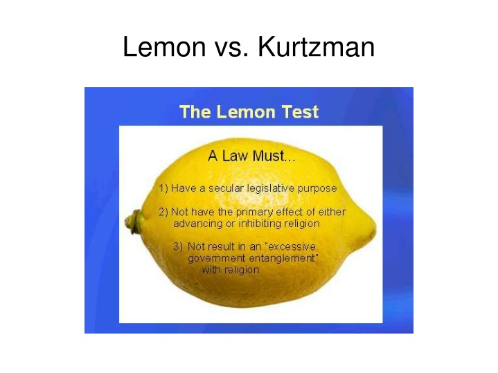 Lemon vs. Kurtzman