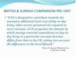british gurkha comparison pre 1997