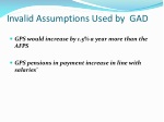 invalid assumptions used by gad
