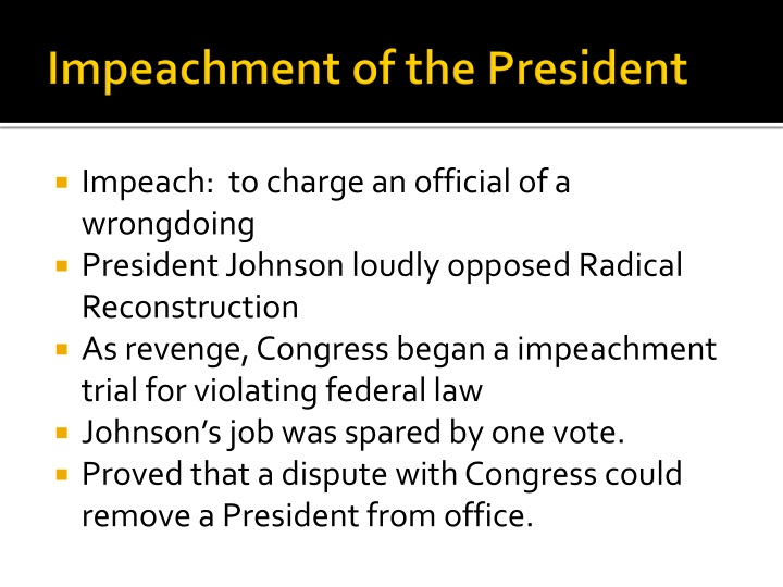 Impeachment of the President
