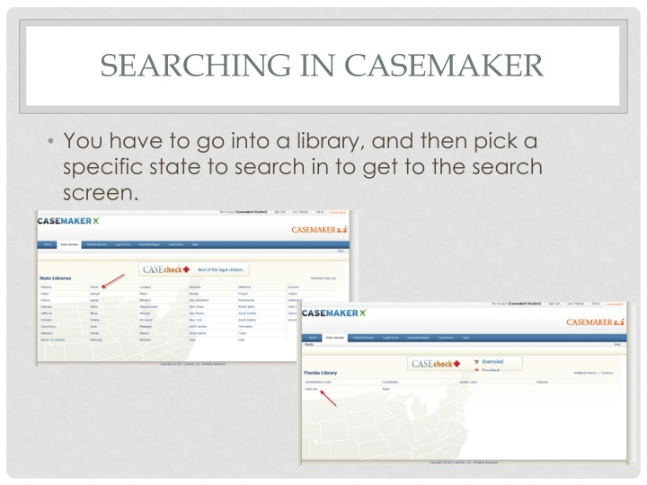 Searching in Casemaker