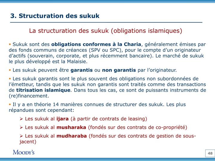 3. Structuration des sukuk