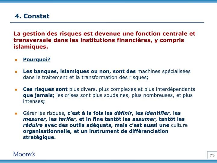 4. Constat
