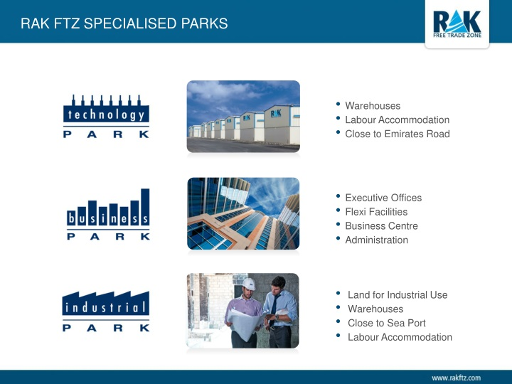 RAK FTZ SpecialiSed Parks