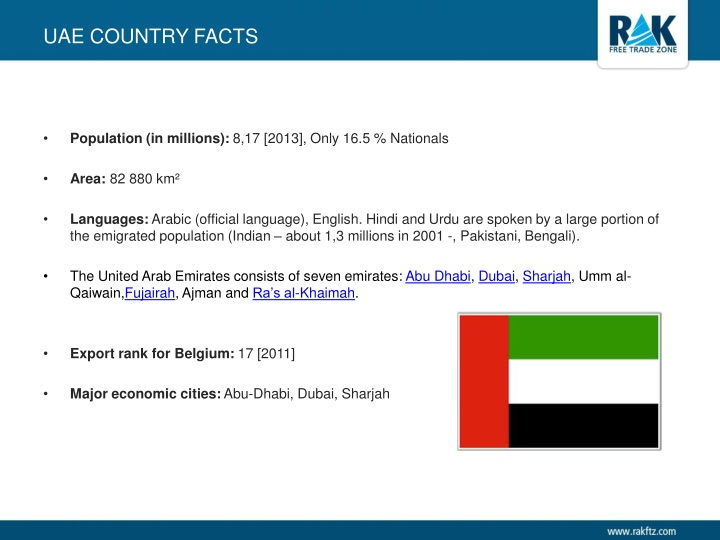 Uae country facts