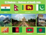 5 regions nations of south asia