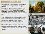 brief history of south asia