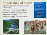 importance of rivers