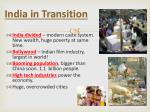 india in transition