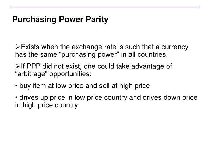 Difference between interest rate parity and purchasing power parity