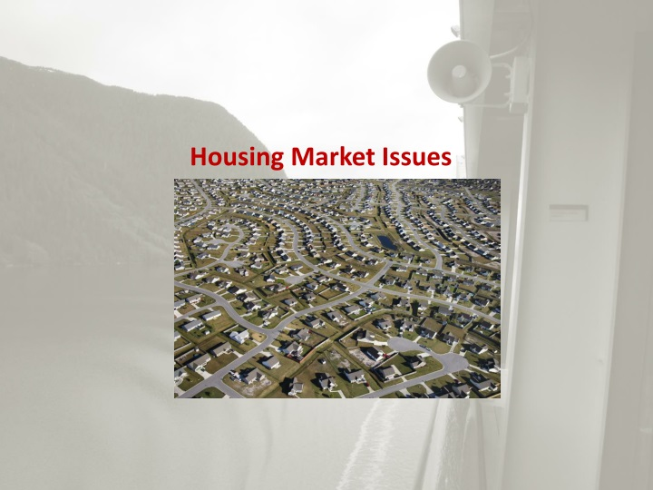 Housing Market Issues