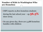 number of kids in washington who are homeless