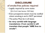 disclosure of smoke free policies required