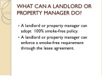 what can a landlord or property manager do