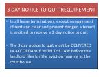 3 day notice to quit requirement