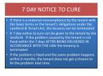 7 day notice to cure