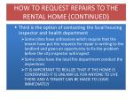 how to request repairs to the rental home continued2