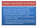 tenant obligation to pay rent