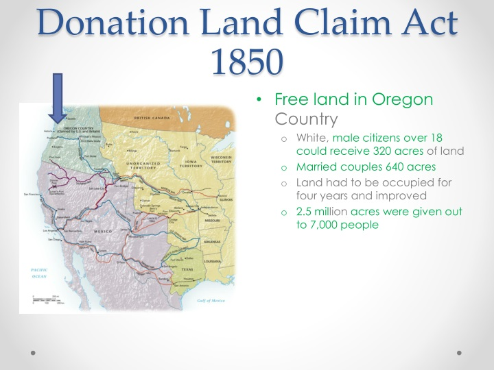 Donation Land Claim Act