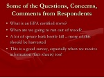 some of the questions concerns comments from respondents