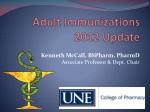 adult immunizations 2012 update