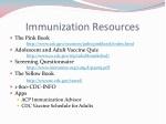 immunization resources