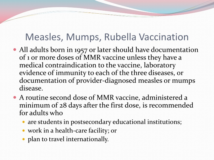 Measles, Mumps, Rubella Vaccination