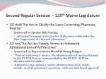 second regular session 125 th maine legislature